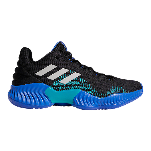 a110a15ac1c9b adidas Men s Pro Bounce Low 2018 Basketball Shoes - Black Blue Grey ...