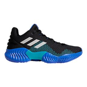 8d19caec1 adidas Men s Pro Bounce Low 2018 Basketball Shoes - Black Blue Grey