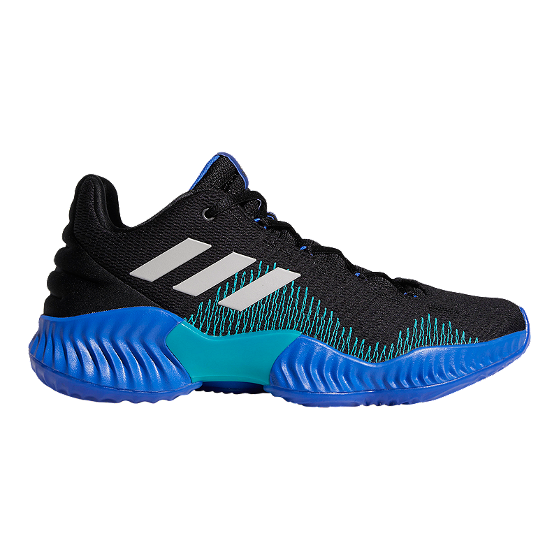 12fa5c143983d2 adidas Men s Pro Bounce Low 2018 Basketball Shoes - Black Blue Grey ...
