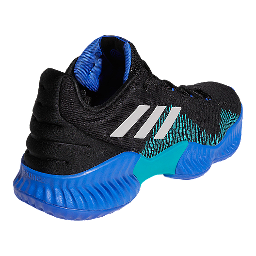 81663ff8a adidas Men s Pro Bounce Low 2018 Basketball Shoes - Black Blue Grey ...