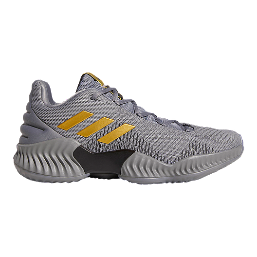 d4f2b89a1d388 adidas Men s Pro Bounce Low 2018 Basketball Shoes - Grey Gold ...