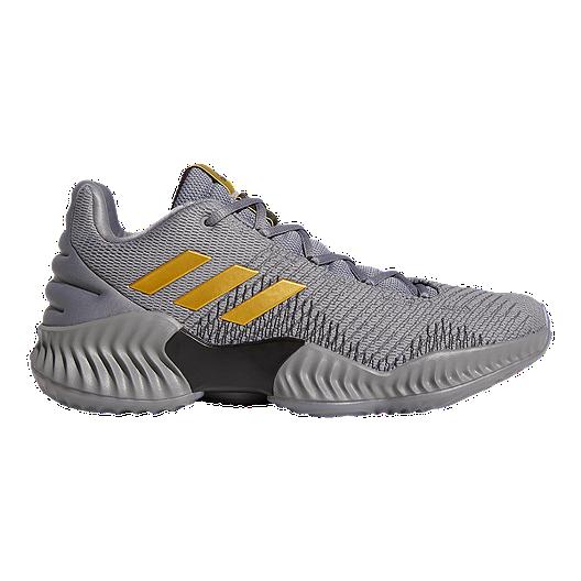 71bdc374e adidas Men s Pro Bounce Low 2018 Basketball Shoes - Grey Gold ...