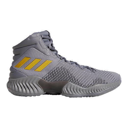 3c02e4d70074 ... closeout adidas mens pro bounce 2018 basketball shoes grey gold grey  grey 47c36 b7cb2