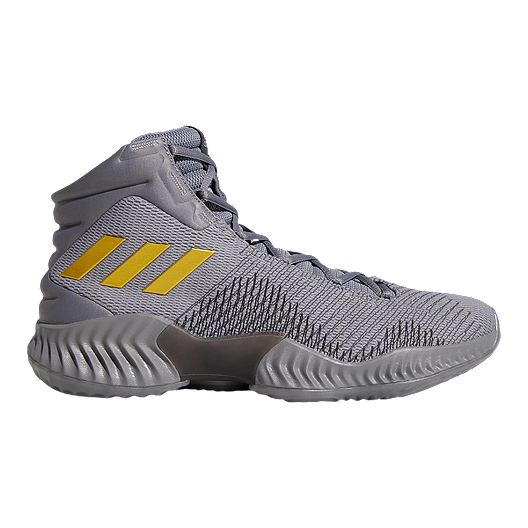 b1133b92973 adidas Men s Pro Bounce 2018 Basketball Shoes - Grey Gold