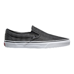 d034e9a408 Vans Men s Classic Slip-On Shoes - Herringbone Black White