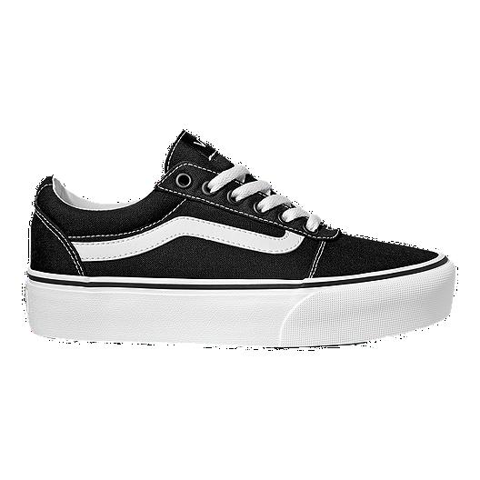 5ffb2c4edc Vans Women s Ward Platform Canvas Shoes - Black White