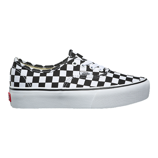 1e487dc10dd Vans Women s Authentic Platform 2.0 Shoes - Checker White