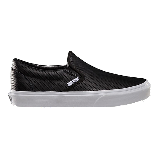 01cceccacc Vans Women s Classic Slip-On Perf Leather Shoes - Black