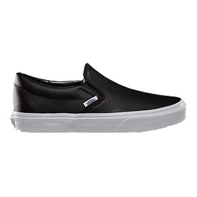 Vans Women s Classic Slip-On Perf Leather Shoes - Black f1dfb70f2