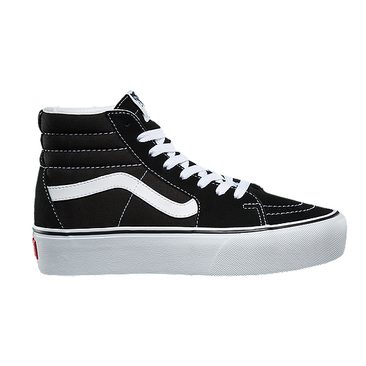 5b3e539318 Vans Women's Sk8-Hi Platform 2.0 Shoes - Black/True White | Sport Chek