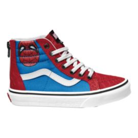Vans Kids' Sk8-Hi Zip Marvel Spiderman Preschool Shoes - Red/White