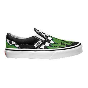 42d998b5bcbc Vans Kids  Classic Slip-On Marvel Hulk Preschool Shoes - Green Black
