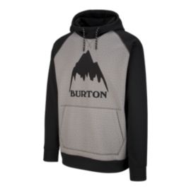 Burton Men's Crown Pullover Hoodie - Black/Grey