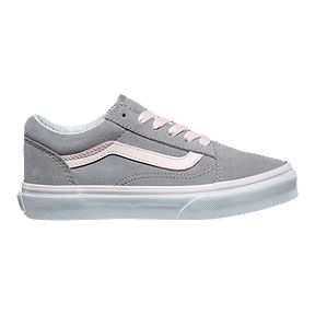fe42b8a30d0 Vans Girls  Old Skool Shoes - Suede Alloy Pink White