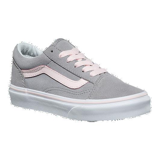 fda87326312f Vans Girls  Old Skool Shoes - Suede Alloy Pink White