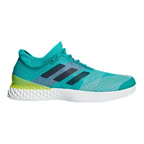 adidas Men s Ubersonic Tennis Shoes - Aqua Navy White 8a7eff0286fb4