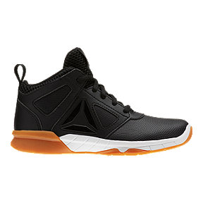 Reebok Kids' Dash N Drill Basketball Grade School Shoes - Black/White/Gum