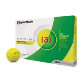 TaylorMade 2018 Project (a) Yellow Golf Balls - 12 Pack