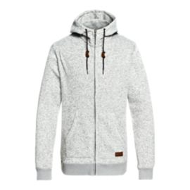 Quiksilver Men's Keller Full Zip Hoodie -  Light Grey