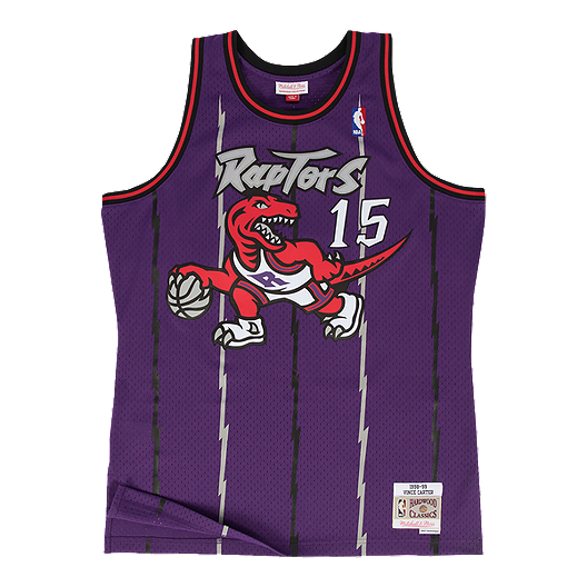 128acb4d Toronto Raptors Mitchell and Ness Carter Swingman Replica Jersey ...