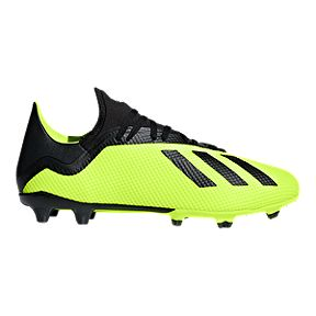 adidas Men s X 18.3 Soccer Shoes - Yellow Black White 666576ca99cb