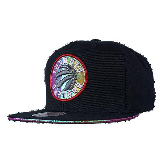 hot sale online 7bc78 dbd1d Toronto Raptors Mitchell and Ness Dark Hologram II Snapback ...