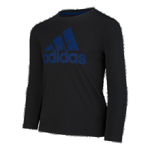 a6f8b7fd33 adidas Boys' 2-7 Motivation Logo Long Sleeve Shirt