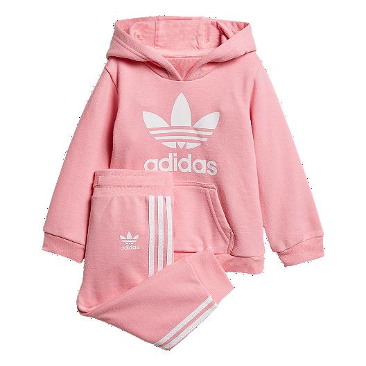 44db2c259ebc adidas Originals Baby Trefoil Hoodie Set