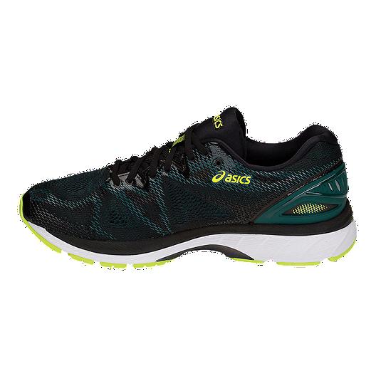 54a60be5f7e ASICS Men's GEL-Nimbus 20 Running Shoes - Black/Lime