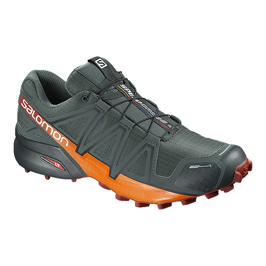 8ea2599bf1e62 Salomon Men s Speedcross 4 CS Trail Running Shoes - Grey Red Orange ...