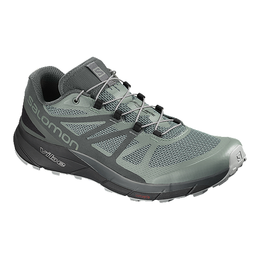 2d355c33ce4 Salomon Men s Sense Ride GTX Trail Running Shoes - Green Grey Black ...