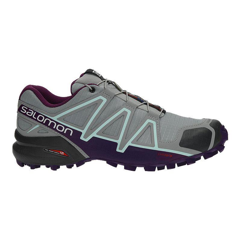 Salomon Women's Speedcross 4 Running Shoe WhitePurple
