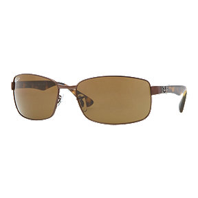 Ray-Ban RB3478 Polarized Sunglasses - Brown/Tortoise with Brown Classic B-15 Lenses