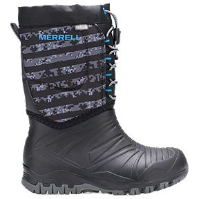 51260d800643 Merrell Kids  Snow Quest Lite WP Preschool Winter Boots - Black Grey