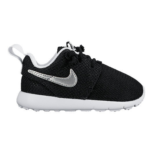 935e5228830cf Nike Toddler Roshe One Shoes - Black White Silver