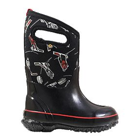 Bogs Boys' Classic Hockey Winter Boots - Black/Red
