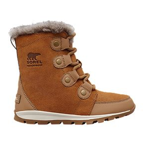 Sorel Girls  Whitney Suede Winter Boots - Elk Natural 01e84f65121