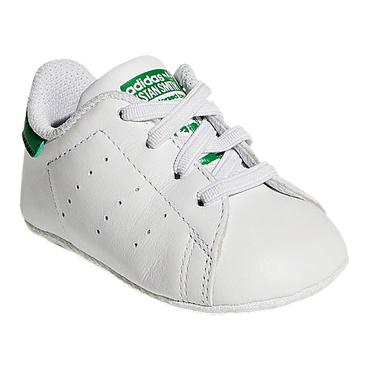 on sale 92c9b d8dcb adidas Baby Stan Smith Crib Shoes - White Green   Sport Chek