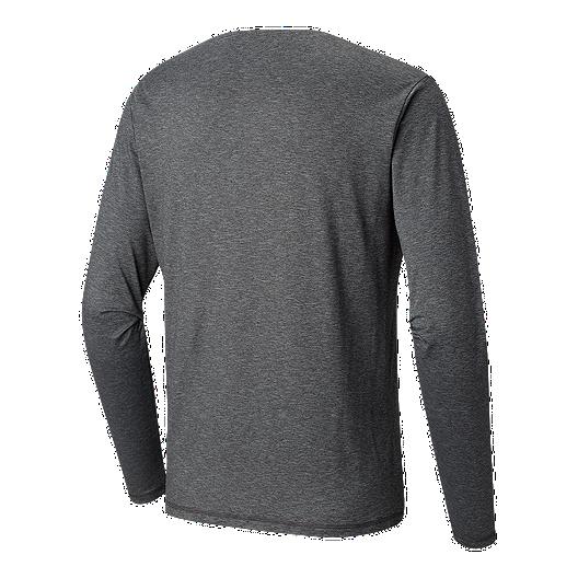 c3dae0f6 Columbia Men's Tech Trail Long Sleeve Crew T Shirt - Shark   Sport Chek