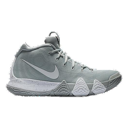 d69e2065222 Nike Men s Kyrie 4 Basketball Shoes - Grey White
