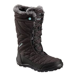 Columbia Girls' Minx Mid III Waterproof Winter Boots - Black/Iceberg