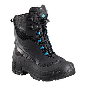 Columbia Kids' Bugaboot Plus Iv Winter Boots- Black/Blue