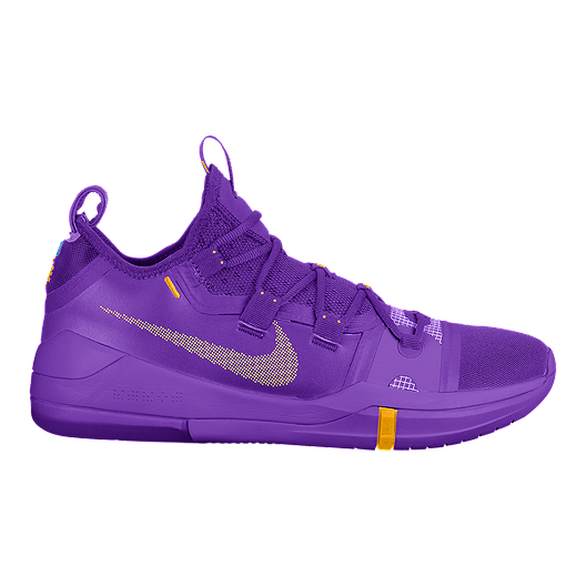 brand new ed5ab 01c26 Nike Men's Kobe AD TB Basketball Shoes - Purple/Yellow ...