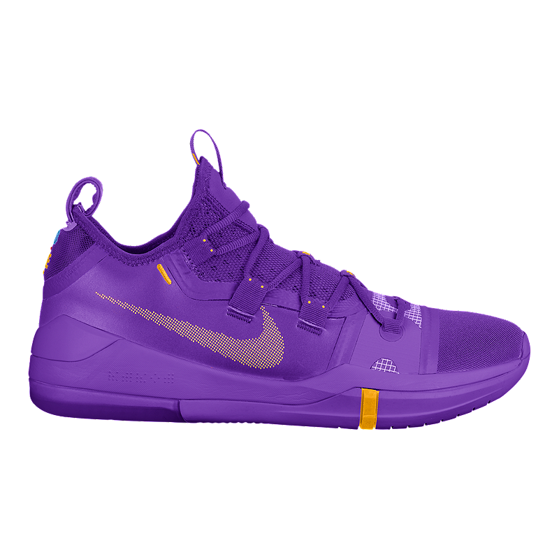 Nike Men s Kobe AD TB Basketball Shoes - Purple Yellow  45626030493bc