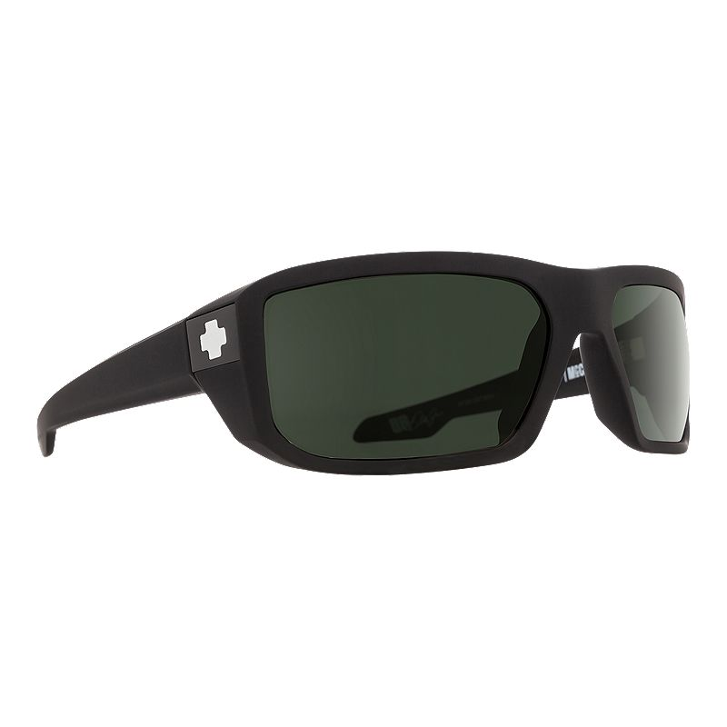 Image of Spy Mccoy Sunglasses - Soft Matte Black with Happy Gray Green Lenses