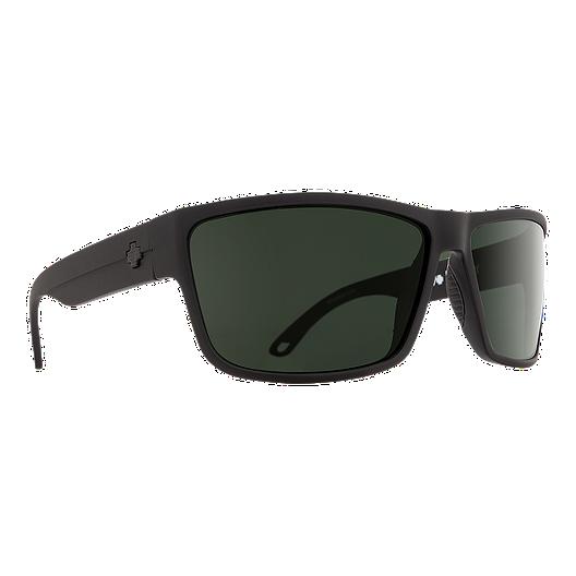 8f46214cb7 Spy Rocky Polarized Sunglasses - Matte Black with Happy Gray Green Lenses