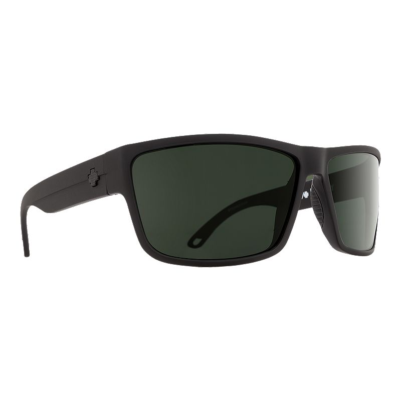ffb53e40be Spy Rocky Polarized Sunglasses - Matte Black with Happy Gray Green Lenses  (648478754027) photo
