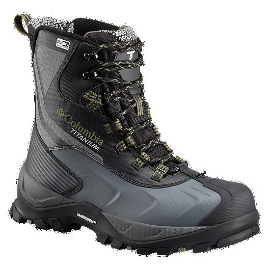 4ca3388dd9b Columbia Men's Powderhouse Titanium Omni-Heat 3D OutDry Winter Boots -  Black/Mosstone