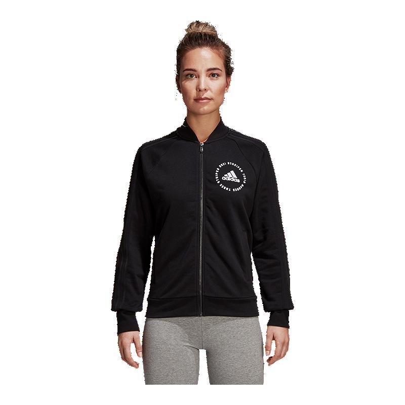 0498c3e99 adidas Women's Athletics Sport ID Terry Bomber Jacket | Sport Chek