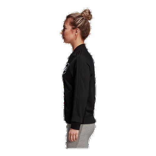afe553778 adidas Women's Athletics Sport ID Terry Bomber Jacket